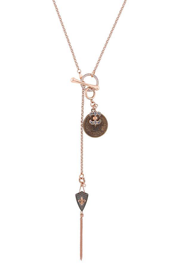 ROYAL - Vintage Görünümlü Madalyon Kolye