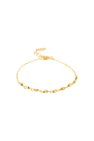 COMFORT ZONE - RUBIC - Gold Beaded Bracelet