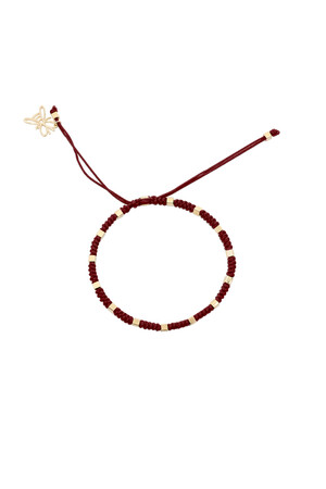 COMFORT ZONE - RUBIK - WINE - Snake Knot Bracelet