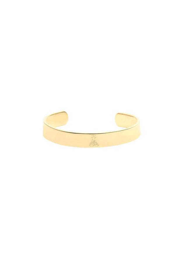 SATTVA CUFF - Buddha Engraved Bracelet