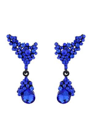 BAZAAR - SAX BLUE - Kristal Taşlı Küpe