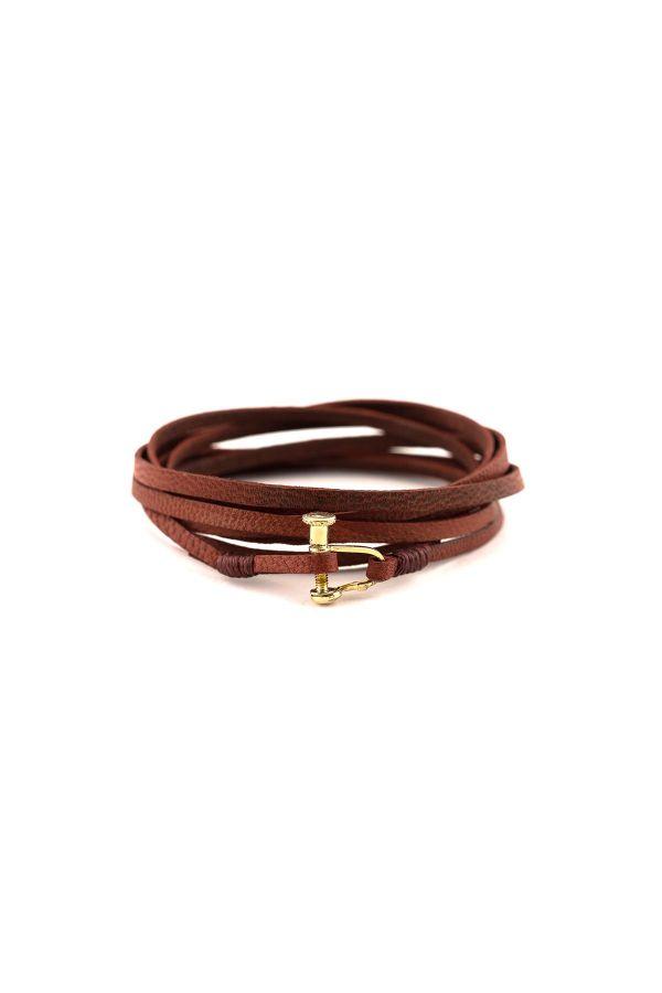 SCREW RED - Wrap Bracelet for Men