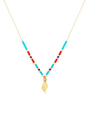 PLAYGROUND - SEA SALT - Beaded Seashell Necklace
