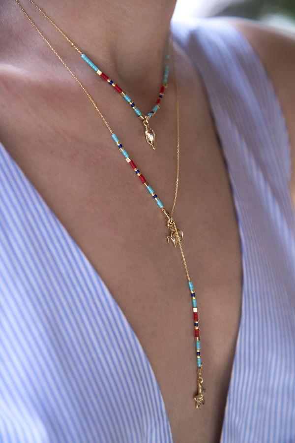 SEA SALT - Beaded Seashell Necklace