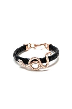 SHOW TIME - SERPENT - Snake Leather Bracelet