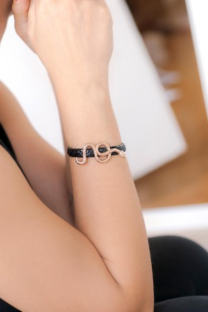 SHOW TIME - SERPENT - Snake Leather Bracelet (1)