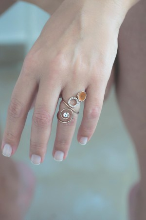 COMFORT ZONE - SHINY CURVES - Adjustable Ring (1)