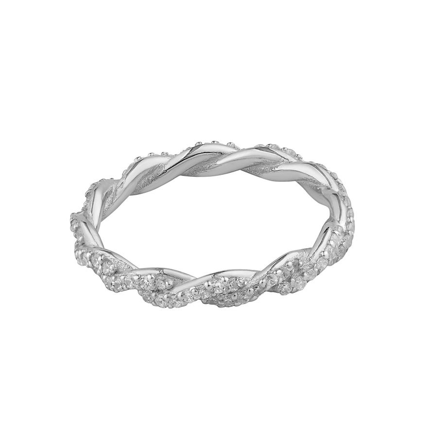SHINY IVY - Silver Engagement Ring