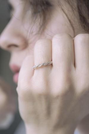 SHINY IVY - Silver Engagement Ring - Thumbnail