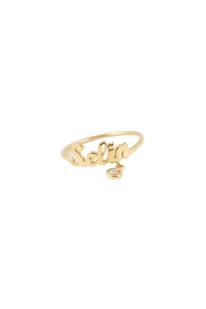 PETITE JEWELRY - SHINY NAME - Dangling Ring
