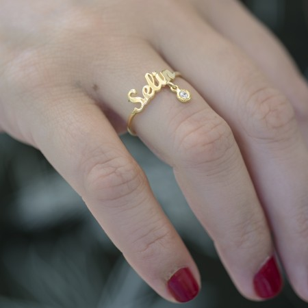 PETITE JEWELRY - SHINY NAME - Dangling Ring (1)