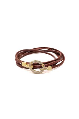 SHOW TIME - SHINY OVALE - Leather Bracelet