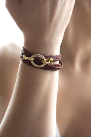 SHOW TIME - SHINY OVALE - Leather Bracelet (1)