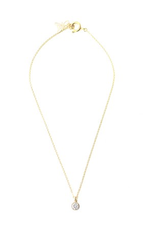 BAZAAR - SINGLE DIAMOND - Solitaire Necklace