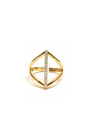 COMFORT ZONE - SINGLE GOLDEN - Altın Kaplama Yüzük