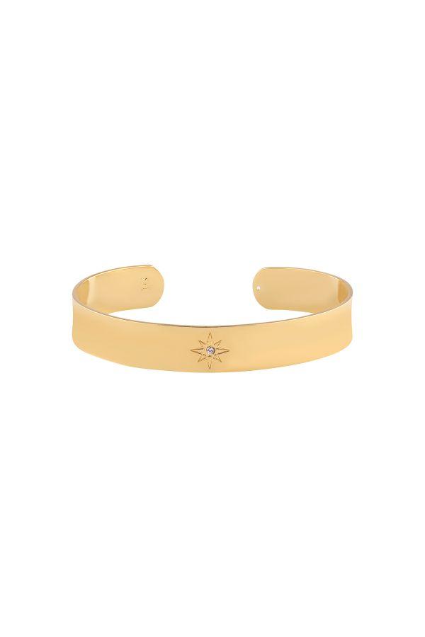 SINGLE STAR - Solitaire Cuff Bracelet