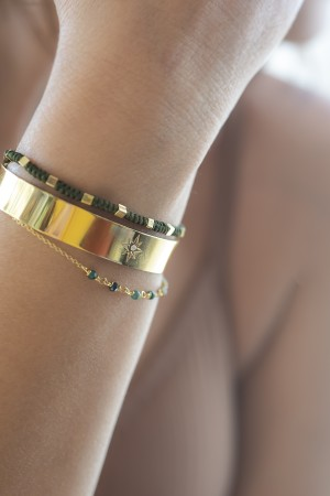 SINGLE STAR - Solitaire Cuff Bracelet - Thumbnail