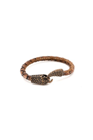 MANLY - SNAKE - BROWN - Men Bracelet