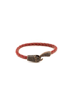 MANLY - SNAKE - RED - Men Bracelet