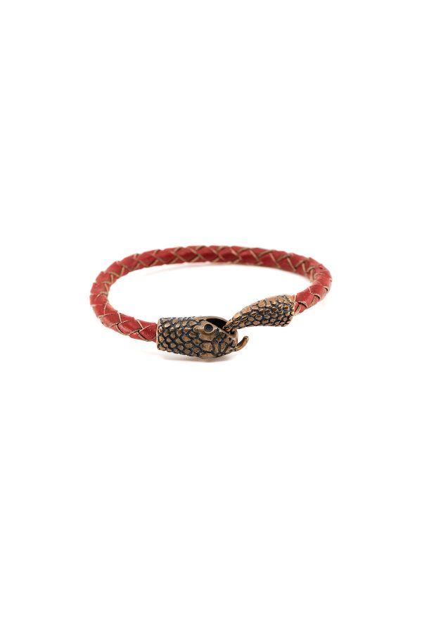 SNAKE - RED - Men Bracelet