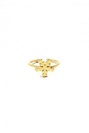 PLAYGROUND - SNOWFLAKE RING - Altın Kaplama Yüzük (1)