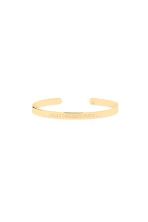 PLAYGROUND - SOUND TO SILENCE - Om Engraved Cuff Bracelet