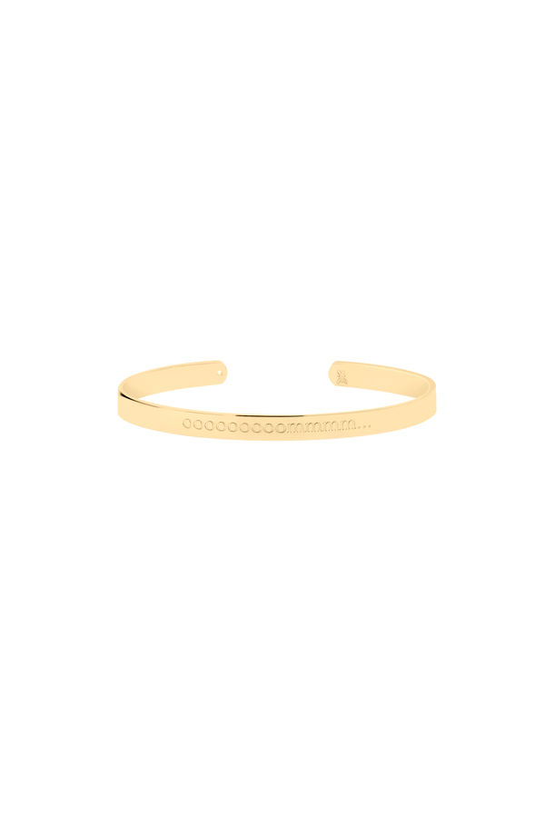 SOUND TO SILENCE - Om Engraved Cuff Bracelet