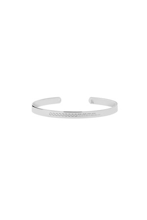 SOUND TO SILENCE - Om Engraved Cuff Bracelet - Thumbnail