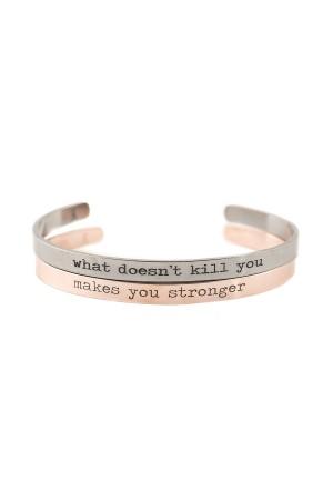 COMFORT ZONE - STRONGER - Cuff Bracelet