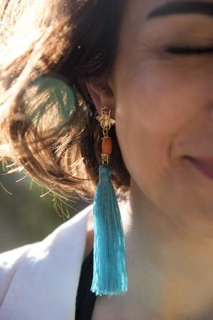 PLAYGROUND - SUMMER BEE - Tassel Earrings (1)