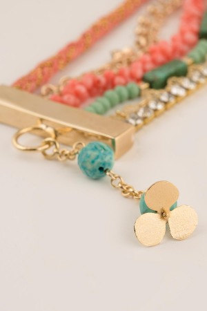 SHOW TIME - SUMMER CLOVER - Layered Bracelet