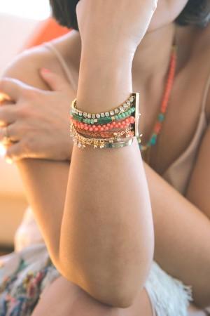 SUMMER CLOVER - Layered Bracelet - Thumbnail