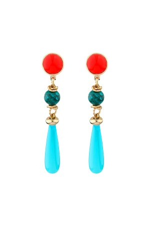 SHOW TIME - SUMMER FEELING - Multi-Stone Dangle Earrings