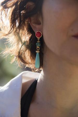 SHOW TIME - SUMMER FEELING - Multi-Stone Dangle Earrings (1)