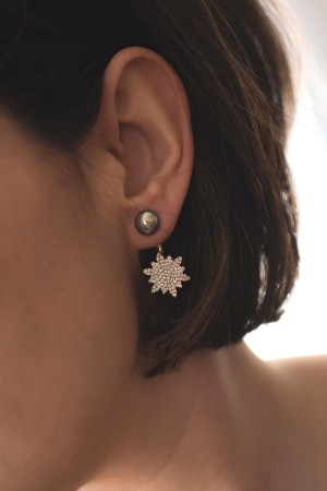 PLAYGROUND - SUNFLOWER - CZ Earring