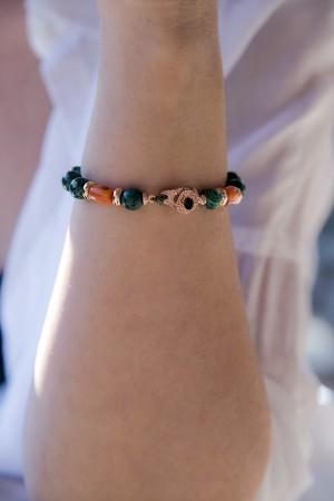 TALIA - Natural Malachite Bracelet - Thumbnail