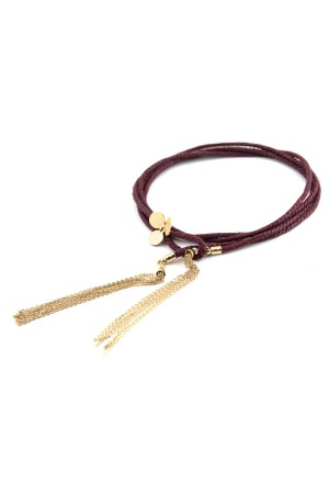 SHOW TIME - TASSEL CLOVER CHOKER - Choker Necklace