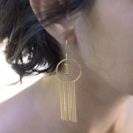 PETITE JEWELRY - TASSEL - Letter Earrings (1)