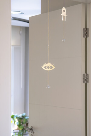 PETITE MAISON - TEAR DROP - Brass Wall Hanging (1)