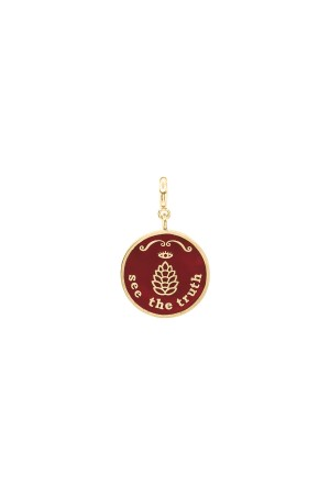 PETIT CHARM - THE TRUTH - Red - Enamel Medal