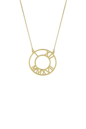 PETITE JEWELRY - TIME IS NOW - Personalized Roman Numeral Necklace