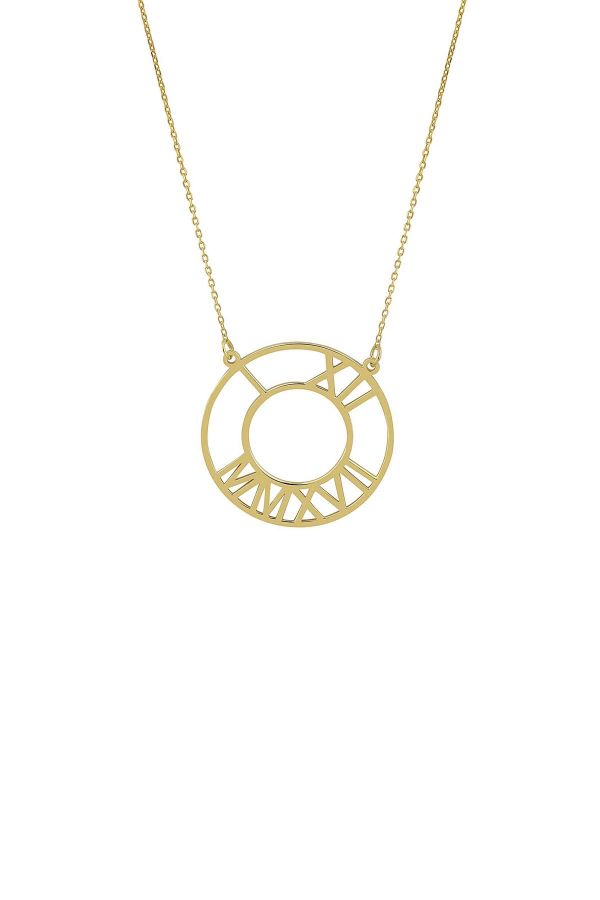 TIME IS NOW - Personalized Roman Numeral Necklace