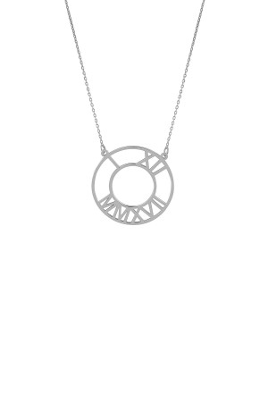 TIME IS NOW - Personalized Roman Numeral Necklace - Thumbnail