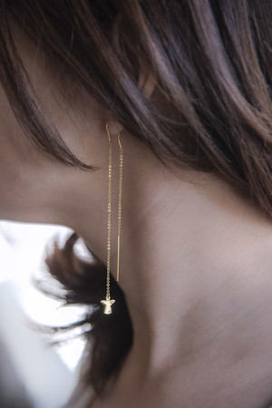 PLAYGROUND - TINY ANGEL - Chain Earring (1)