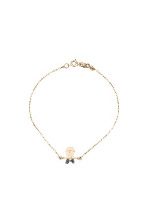 PETITE FAMILY - TINY BLUE PEPE - Dainty Boy Bracelet (1)