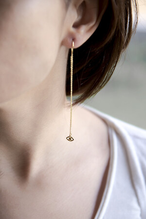 PLAYGROUND - TINY EYE - Threader Earring (1)