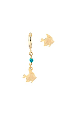 PLAYGROUND - TINY FISH - Asymmetrical Earrings