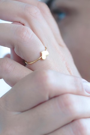 PLAYGROUND - TINY HEART - Altın Kaplama Yüzük (1)