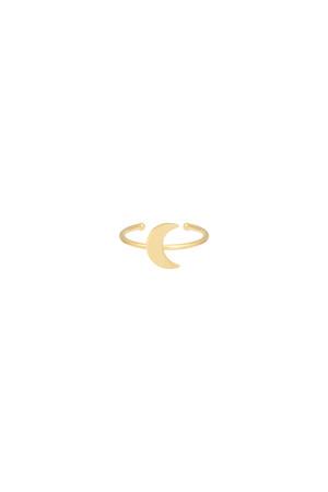 TINY MOON - Altın Kaplama Yüzük - Thumbnail