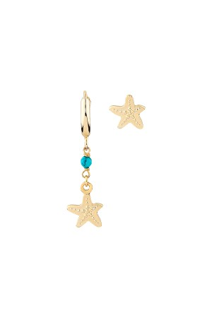 PLAYGROUND - TINY STARFISH - Asymmetrical Earrings